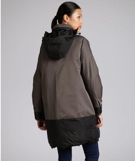Moncler Wool Blend Stowaway Hood Down Jacket In Gray Grey