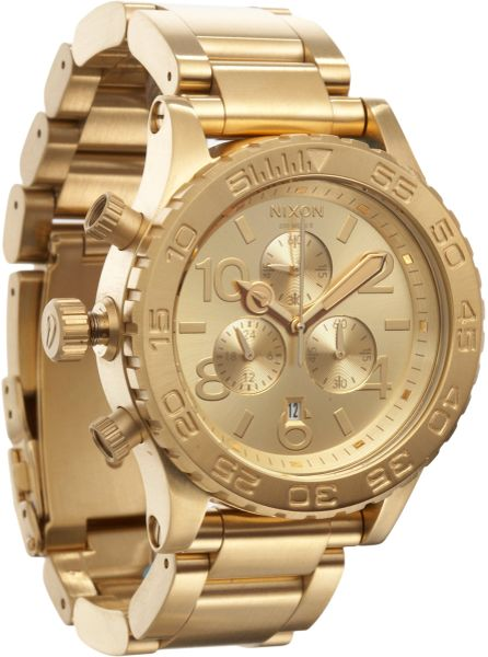 Nixon 4220 Chrono Watch  in Gold for Men (steel)