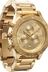 Nixon 4220 Chrono Watch  in Gold for Men (steel) - Lyst