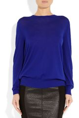 Proenza Schouler Merino Wool Sweater in Blue (cobalt) - Lyst