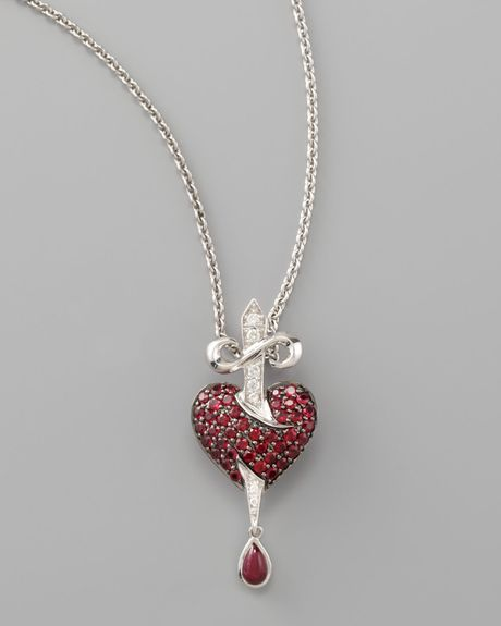 Stephen Webster Minor Bleeding Heart Pendant Necklace In