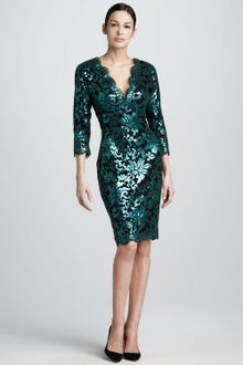 Sequin Cocktail Dress on Tadashi Shoji Sequined Lace Oneshoulder Cocktail Dress In Pink