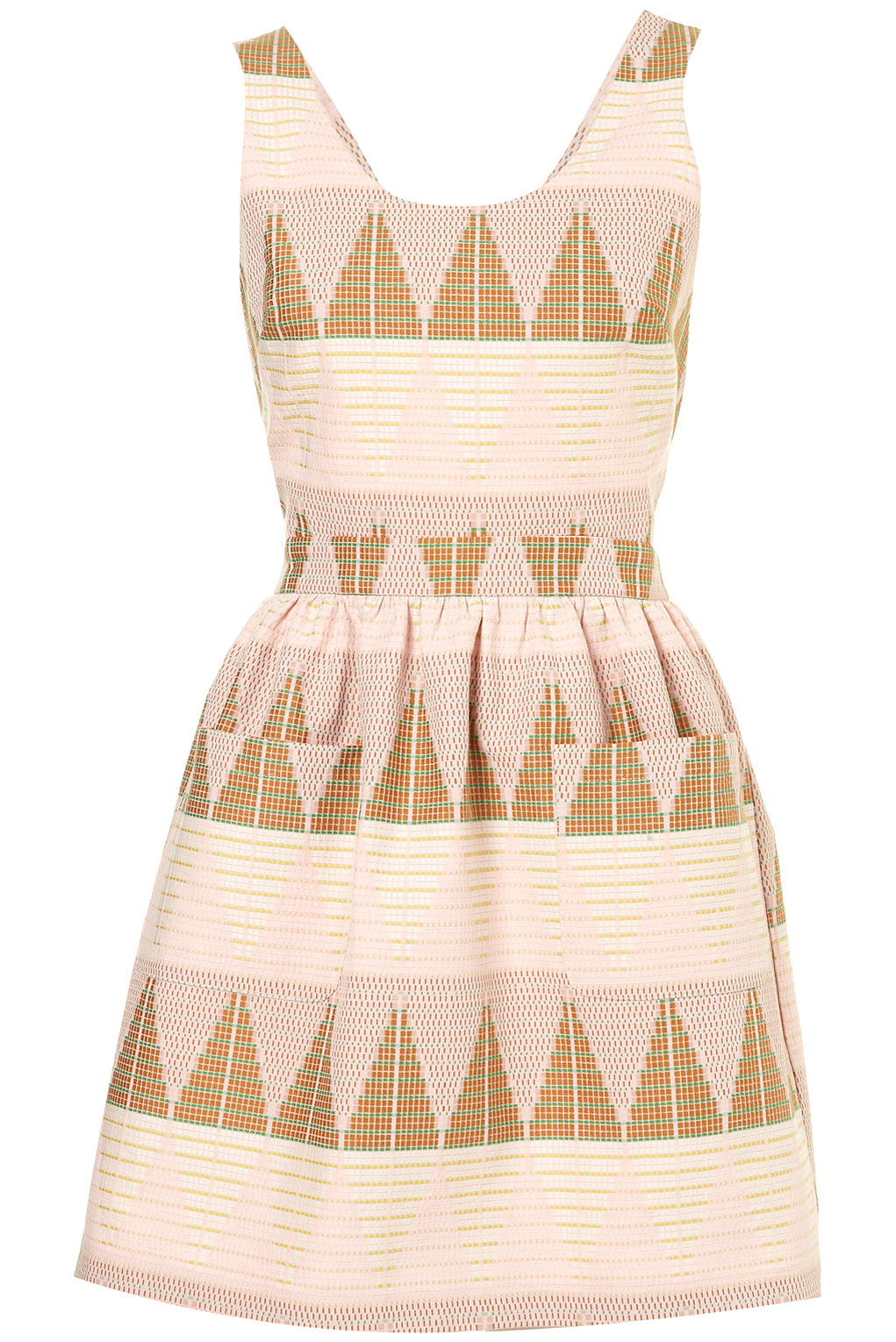 pennyblack_Lyst - Topshop Pastel Texture Pinafore Dress in Pink