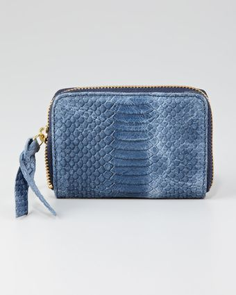 Twelfth Street by Cynthia Vincent Snakeembossed Coin Wallet Blue - Lyst