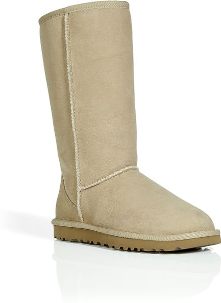 ugg leather classic tall boots in sand in beige sand lyst. Black Bedroom Furniture Sets. Home Design Ideas