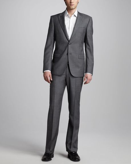 Versace Peaklapel Suit in Gray for Men - Lyst
