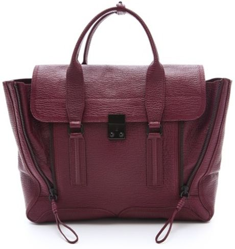 3.1 Phillip Lim Pashli Satchel in Purple (aubergine) - Lyst