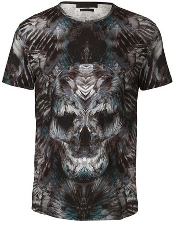 Alexander McQueen Feather Printed Tshirt - Lyst