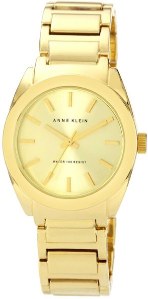 Anne Klein Womens Gold Tone Adjustable Bracelet 32mm Ak in Gold - Lyst