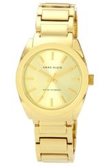 Anne Klein Womens Gold Tone Adjustable Bracelet 32mm Ak - Lyst
