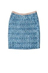 By Malene Birger Ocean Blue Soave Sequin Skirt in Blue (ocean) - Lyst