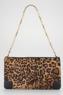 Christian Louboutin Loubiposh Calf Hair Clutch - Lyst