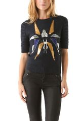 Cut25 By Yigal Azrouël Embellished Sweater - Lyst