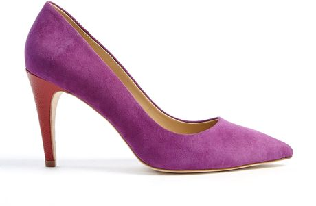 Diane Von Furstenberg Anette High Pointed Court Shoe in Purple - Lyst