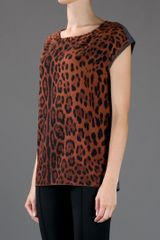 Dolce & Gabbana Leopard Print Top in Animal (leopard) - Lyst