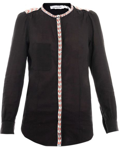 Etoile Isabel Marant Flower Blouse in Black