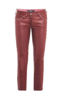 Isabel Marant Zoltan Starstud Leather Trousers - Lyst