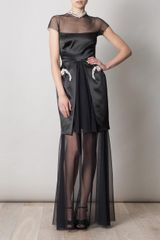 Marios Schwab The Gloria Full Length Dress in Black - Lyst