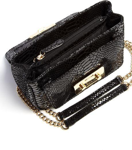Michael Michael Kors Black Patent Python Small Sloan Shoulder Flap Bag 112