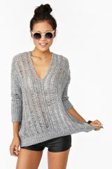 Nasty Gal Haze Knit in Gray - Lyst