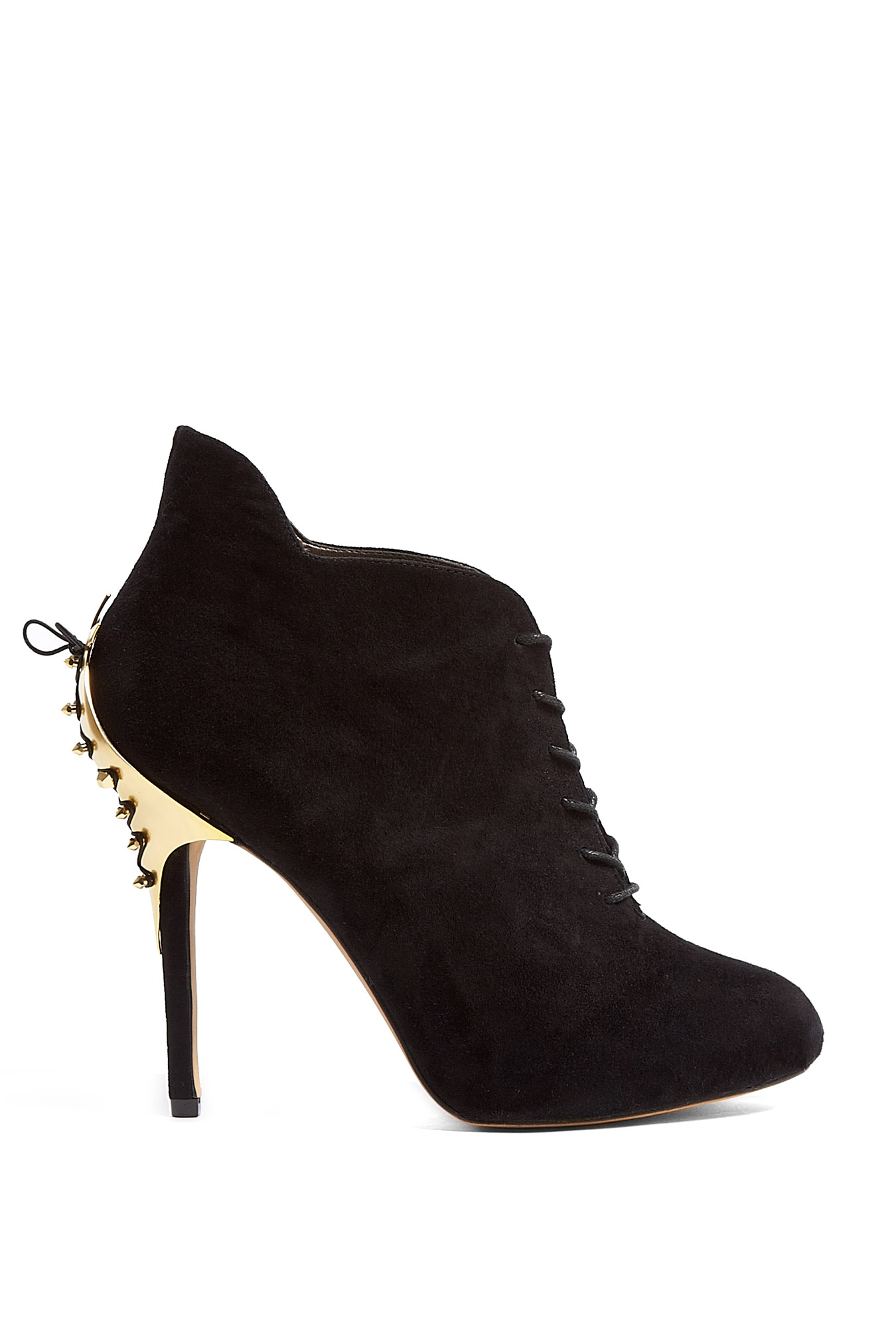 sam edelman black suede lace up elsa ankle boots in black