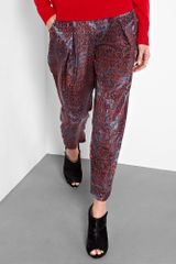 See By Chloé Berlin Print Silk Trousers