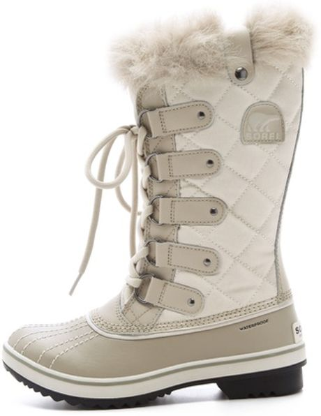 sorel tofino waterproof boots in white lyst