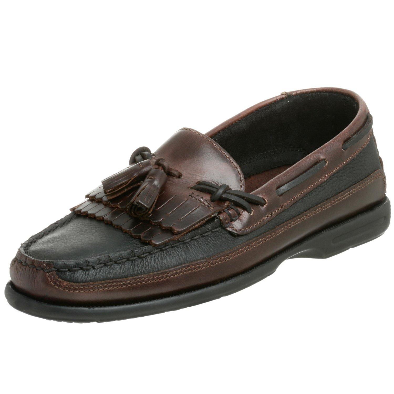Sperry Top Sider Men S Tremont Kiltie Tassel Boat Shoe Black Amaretto
