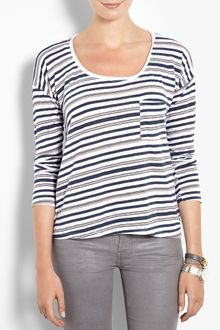 Splendid Striped Long Sleeve T-shirt - Lyst