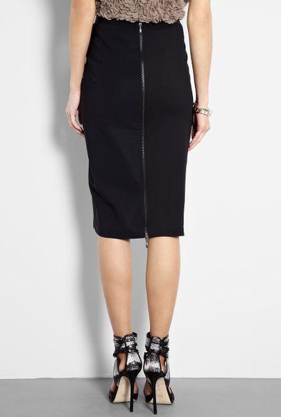 sportmax garza technical zip back pencil skirt in black lyst