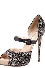 Valentino Microstud Mary Jane Black - Lyst