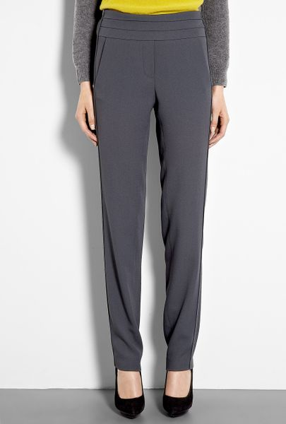 Vanessa Bruno Crepe Satin Tuxedo Trousers in Gray