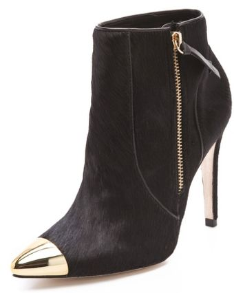 Alice + Olivia Donnie Haircalf Booties - Lyst