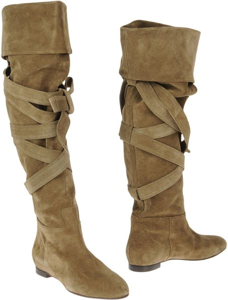 Chloé Boots in Green - Lyst