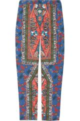 Clements Ribeiro Printed Silk Pants - Lyst