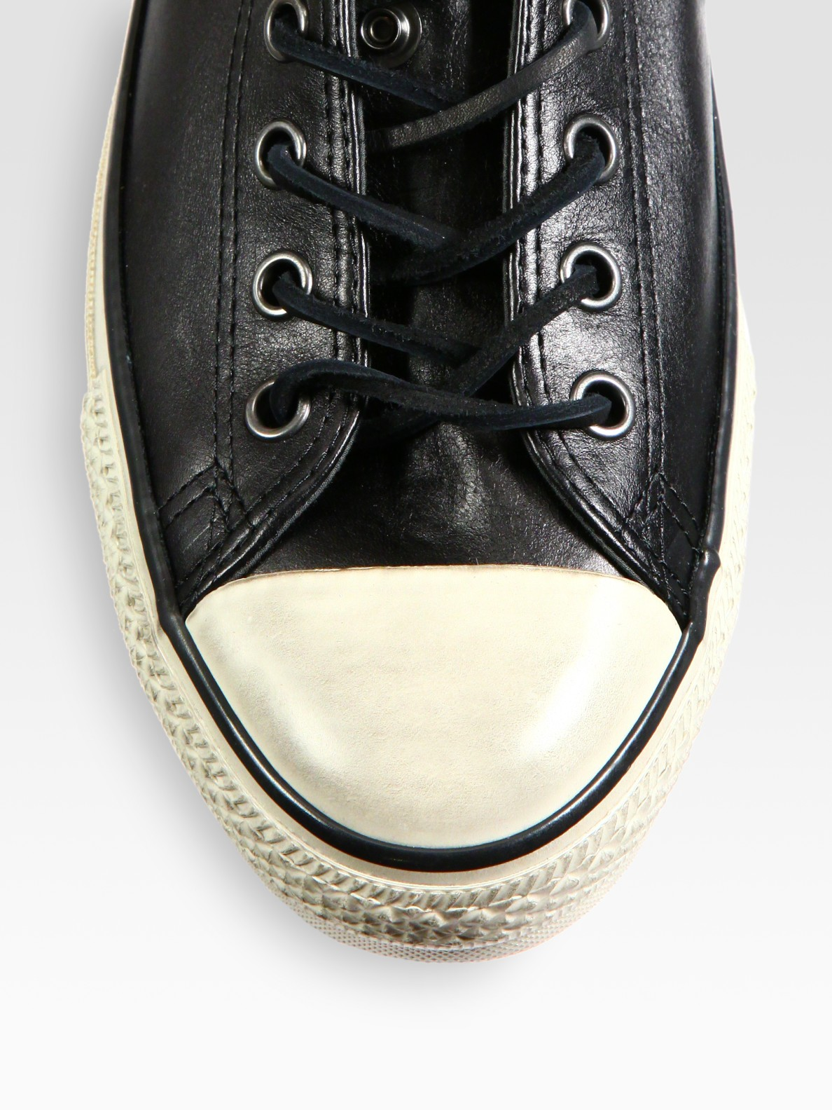 53010af57ca ... usa lyst converse chuck taylor all star leather zip sneaker in black  4c619 94f99