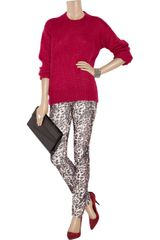 Etoile Isabel Marant Malone Mohair Blend Sweater in Red - Lyst