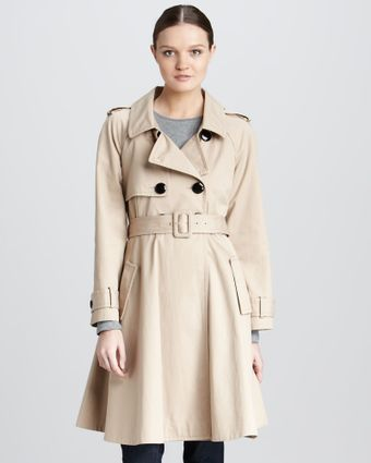 Kate Spade Dianne Flared Cotton Trench Coat - Lyst