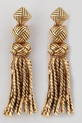 Oscar De La Renta Tasselknot Earrings in Gold - Lyst