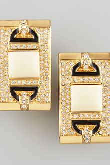 Rachel Zoe Rectangle Ivory Quartz Clip Earrings - Lyst