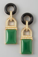 Rachel Zoe Drop Earrings  in Green (jade) - Lyst