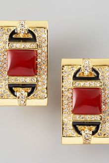 Rachel Zoe Rectangular Clip Earrings  - Lyst