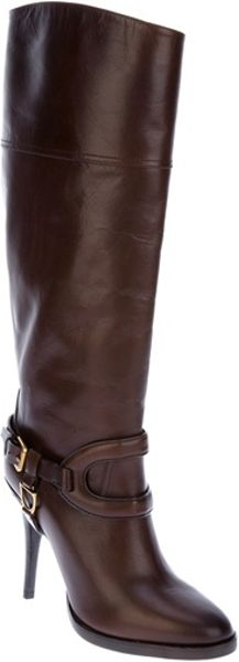 Ralph Lauren Knee High Boot in Brown - Lyst