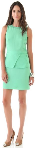 Tibi Short Peplum Dress - Lyst