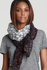 Tory Burch Fairmont Border Scarf - Lyst