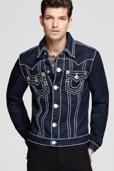 True Religion Denim Jacket in Body Rinse - Lyst