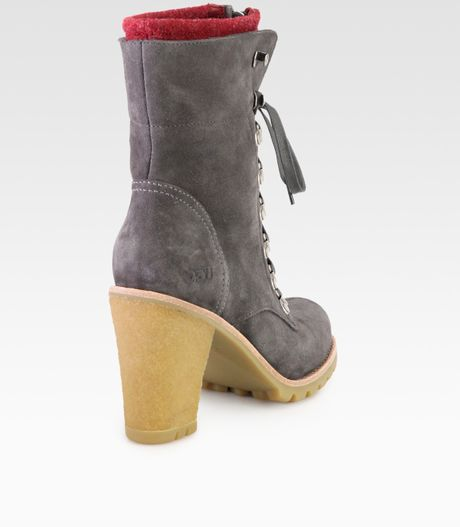 gray ugg ankle boots