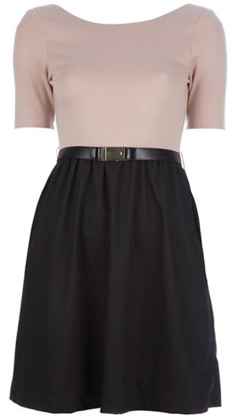 Alice + Olivia Two Tone Dress - Lyst