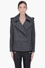 By Malene Birger Charcoal Wool Febiola Jacket - Lyst