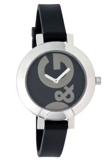 D&G Hoopla Black Silicone Strap Watch  - Lyst